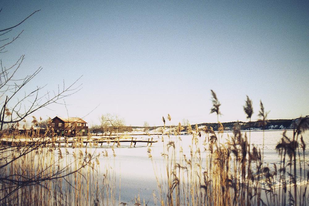 frozen lake sweden