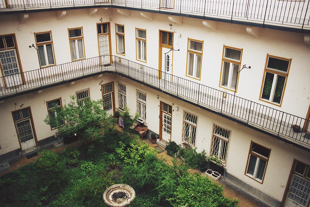 green courtyard budapest