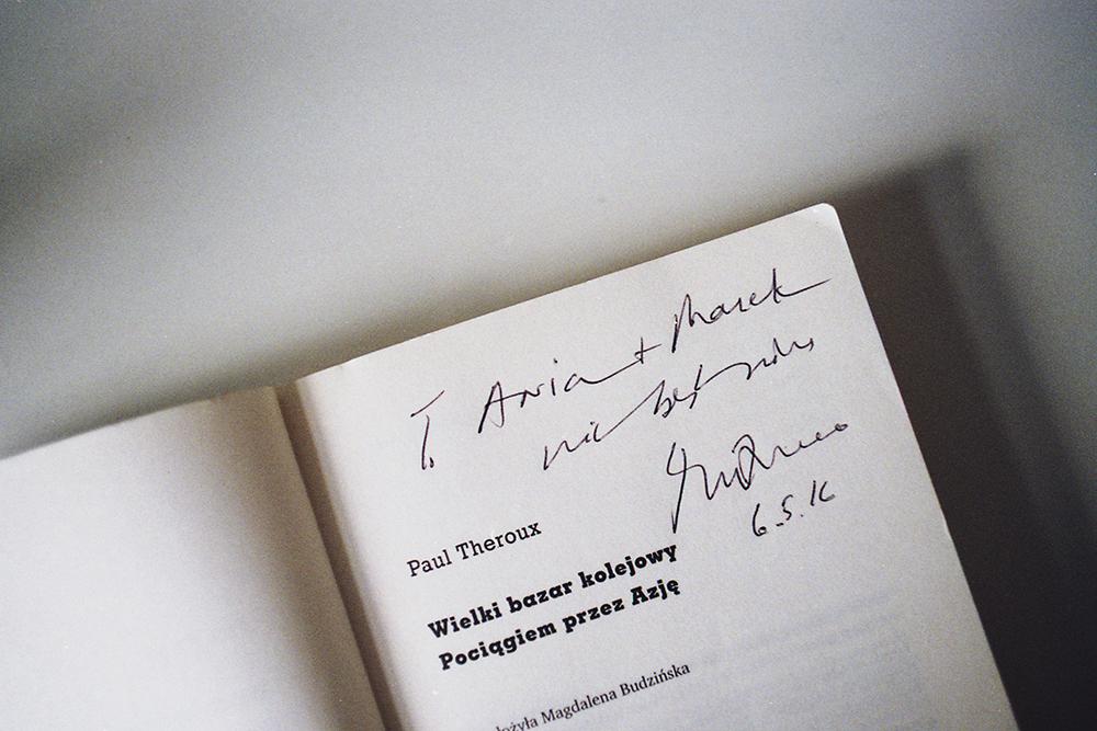 paul theroux podpis książka
