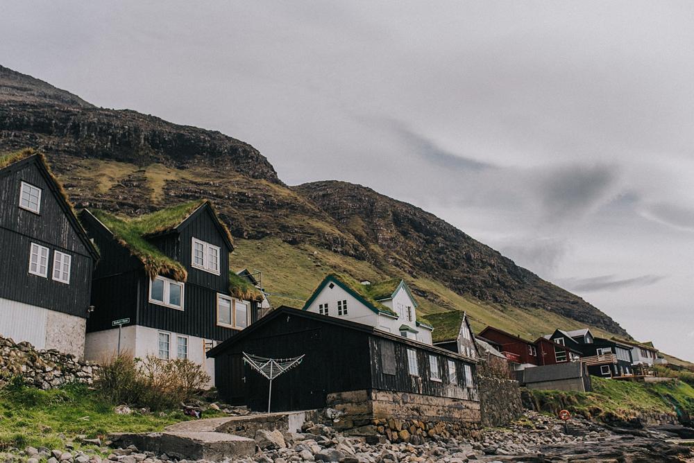 Wyspy owcze Vágar Bøur domy