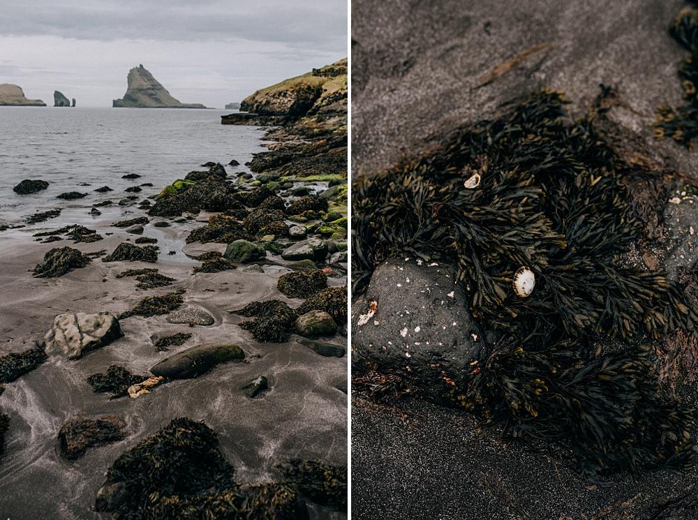 Wyspy owcze Vágar Bøur czarna plaża