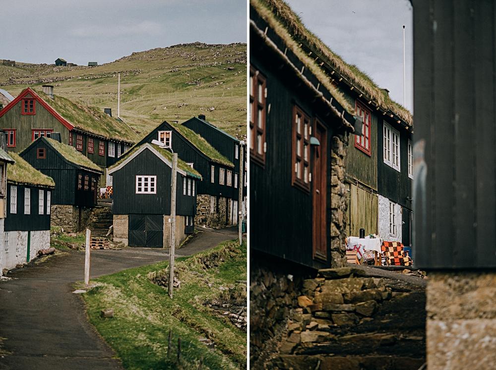 mykines wioska sklep domy wyspy owcze
