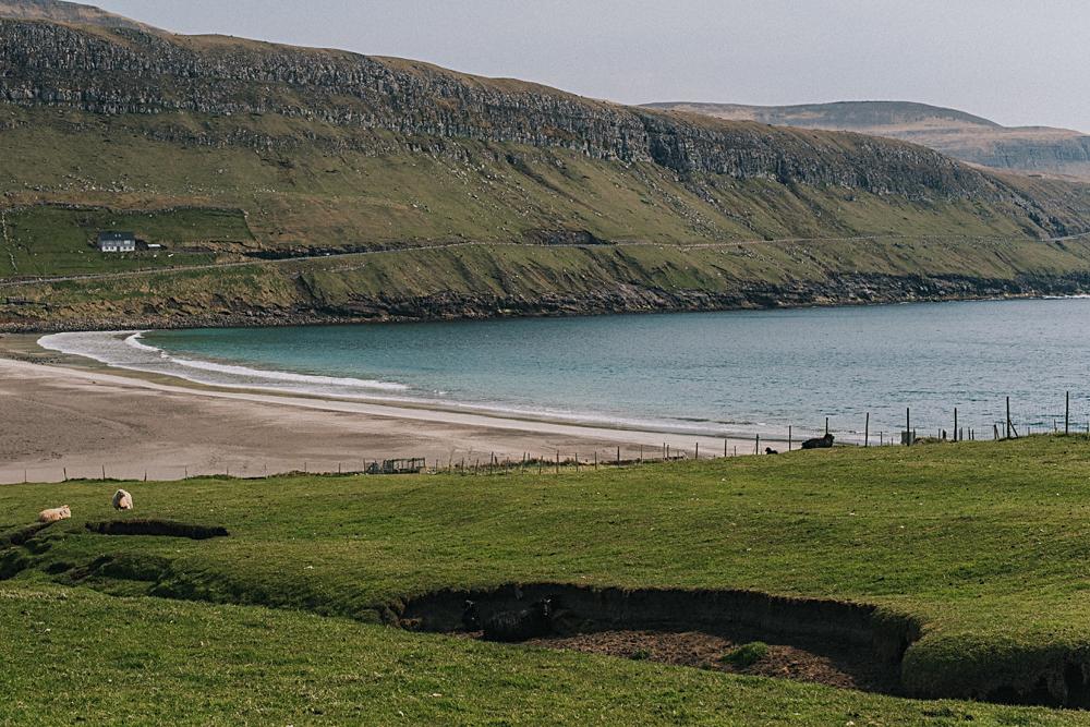 sandoy wyspy owcze plaża