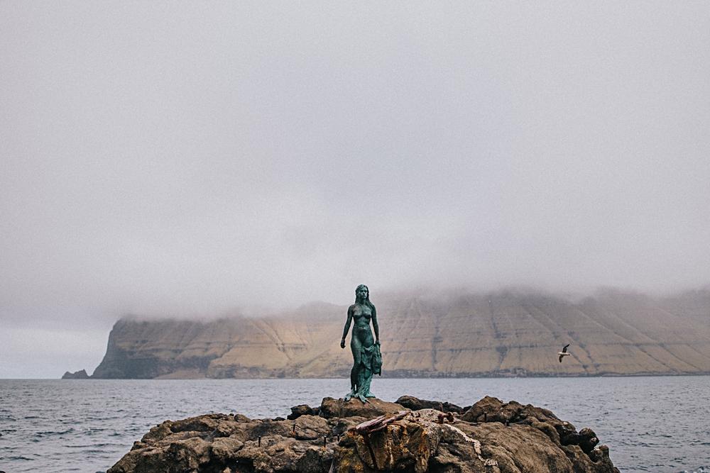 wyspy owcze mikladalur kalsoy rzeźba Kópakonan