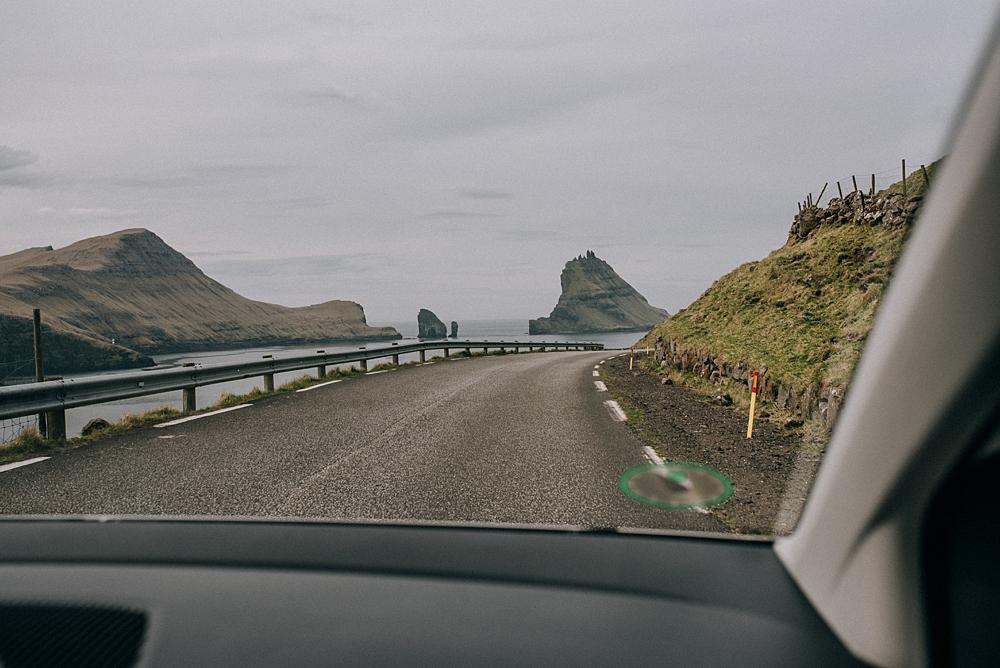 wyspy owcze samochód drogi